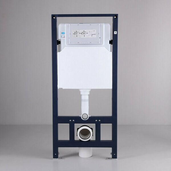 Wall Mount Stainless Steel 1.1 1.6 GPF Dual Flush Toilet Tank amp; Carrier System $295.16