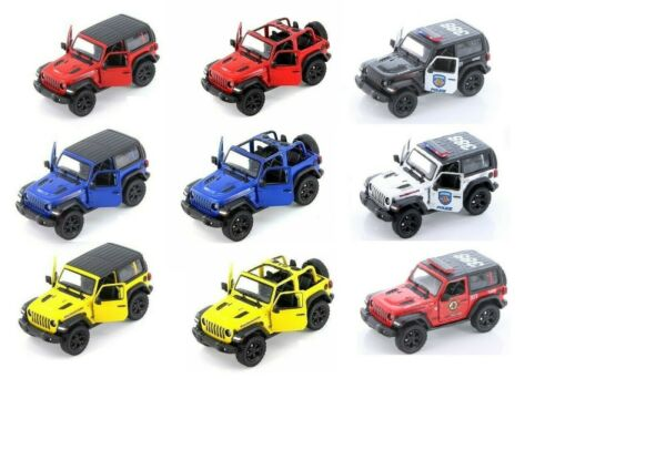 Jeep Wrangler Rubicon 4x4 Hard Top Police Diecast Model Toy Car 134 Scale