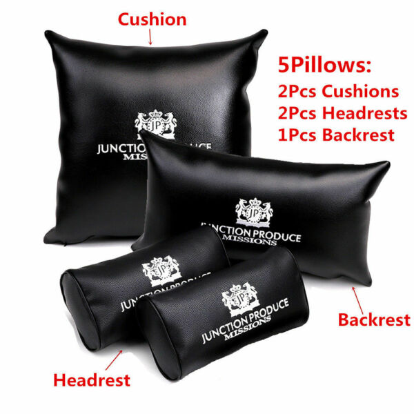 5pcs JP JUNCTION PRODUCE VIP JDM Car Seat Pillow Back Rest Headrest Cushion Pad