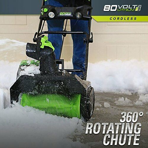 GreenWorks PRO 20 inch 80V Cordless Snow Thrower Battery Not Included (2600402)