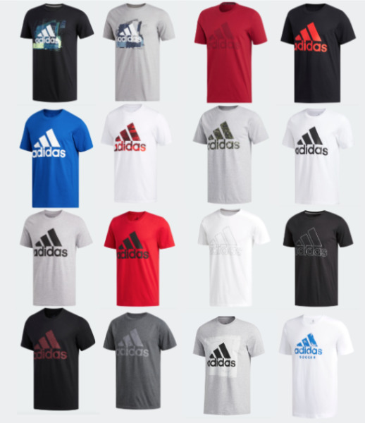 Adidas Badge of Sport Tee Mens Small to 4XL Authentic Short Sleeve T Shirts