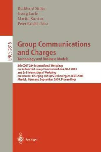 Group Communications And Charges; Technology And Business Models: 5Th Cost2... $104.47