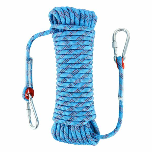 Outdoor Climbing Rope Fire Escape Safety Rappelling Rope 65FT(20M)  Blue