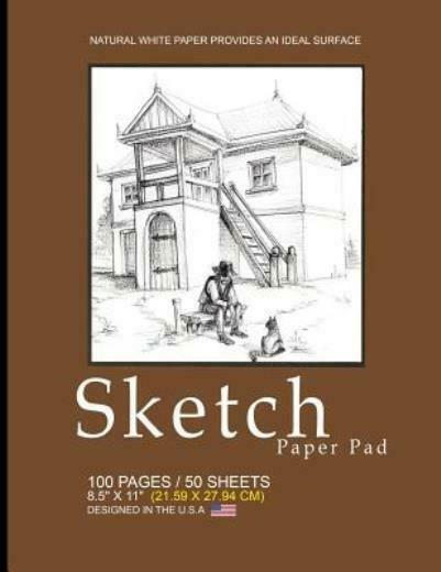 Sketch Paper Pad Brown Country Cover: 8 5 X 11 21 59 X 27 94 Cm Sketchb... $9.68