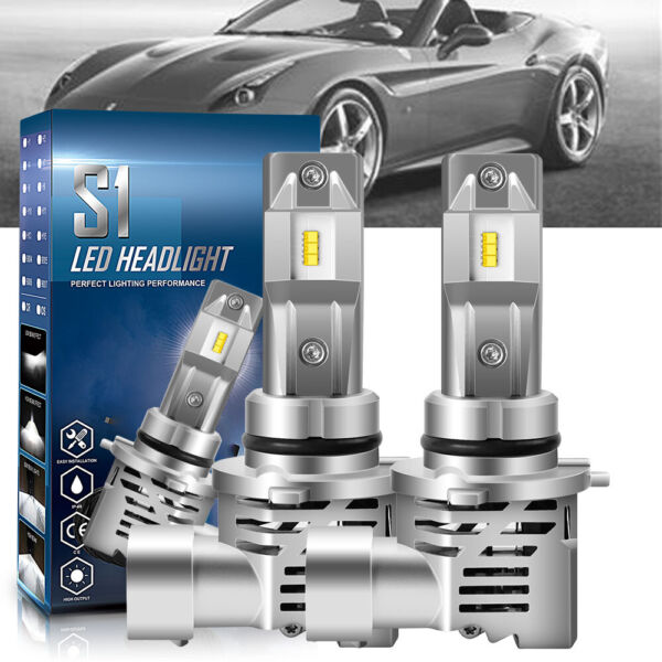 4 Sides H11 LED Headlight High or Low Beam Bulbs 2400W 286000LM 6000K White 2Pcs