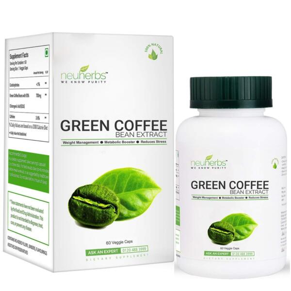 Green Coffee Beans Extract Capsules for Weight Management 700mg GCA 60 Capsule