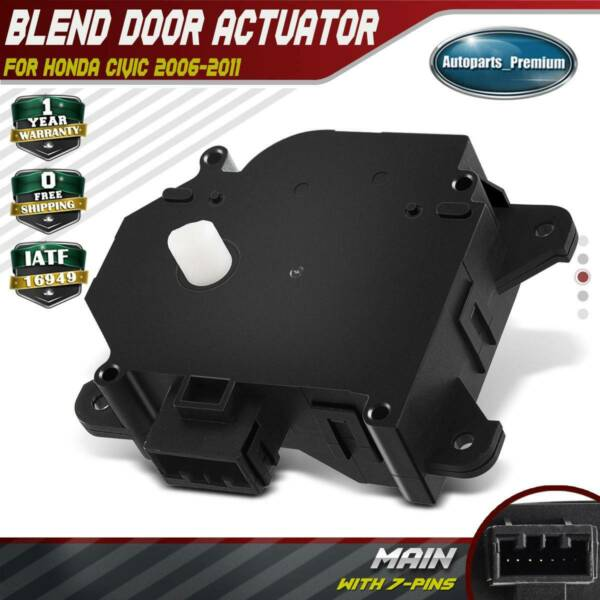 HVAC Heater Blend Door Actuator for Honda Civic 06-11 Main 604-879 79140SNAA01