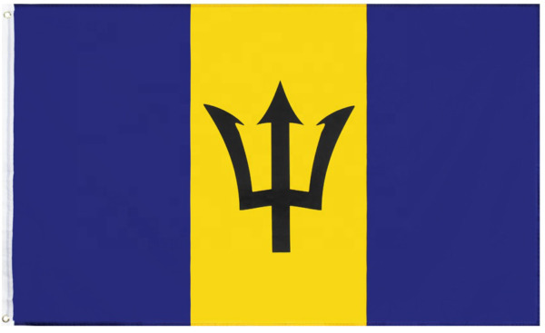Barbados 3x5FT Polyester Flag Banner Caribbean Country Man Cave Dorm Gift Flying