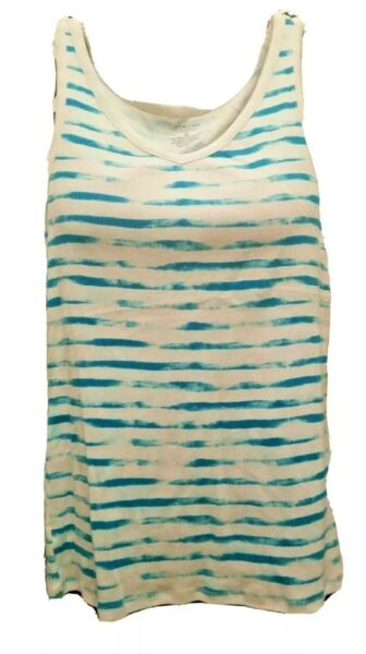 Tie Dye Tank Tops V Neck Cotton Blend Shirt Sonoma Size Large