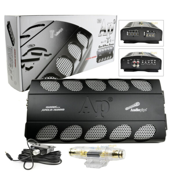 Audiopipe APCLE 15001D 1500 Watt Mono Class D Car Audio Amplifier APCL 15001D