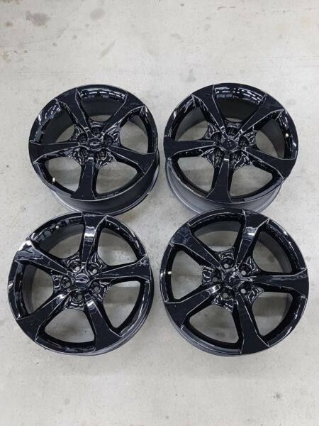 "Set of 4 OEM 20"" Black Camaro SS Rims Wheels New Takeoffs wtpms 20x8 20x9 V22"
