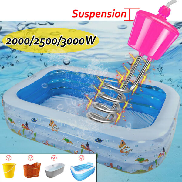 2000-3000W Suspension Immersion Water Heater Electric For Inflatable Pool  Z!