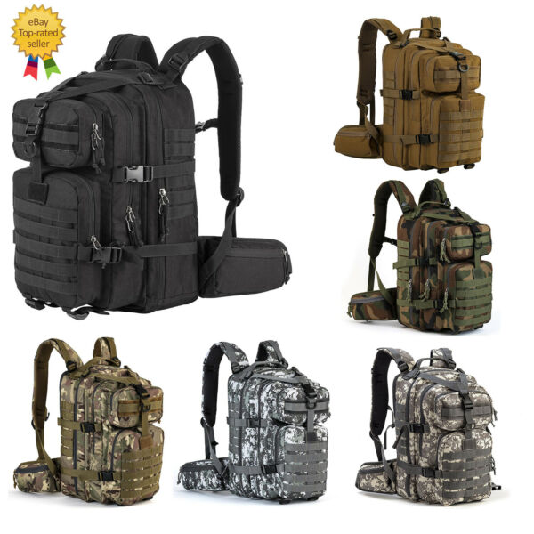 35L Military Rucksacks Tactical Army Molle Backpack Camping Outdoor Hiking Bags