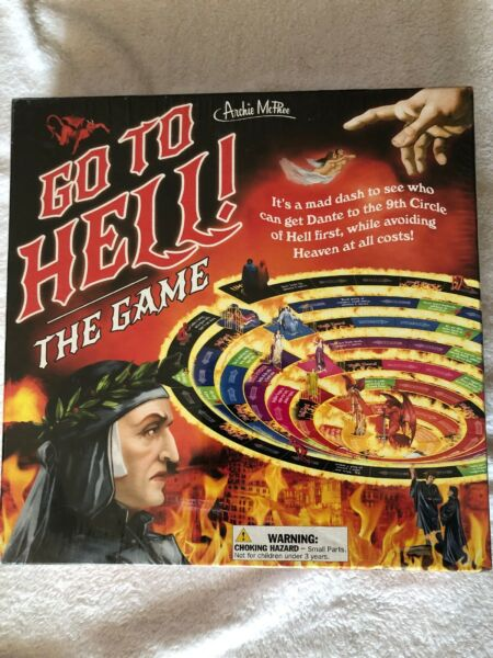 Go To Hell: The Game (Board Game 2017) Dante's Inferno Archie McPhee NEW