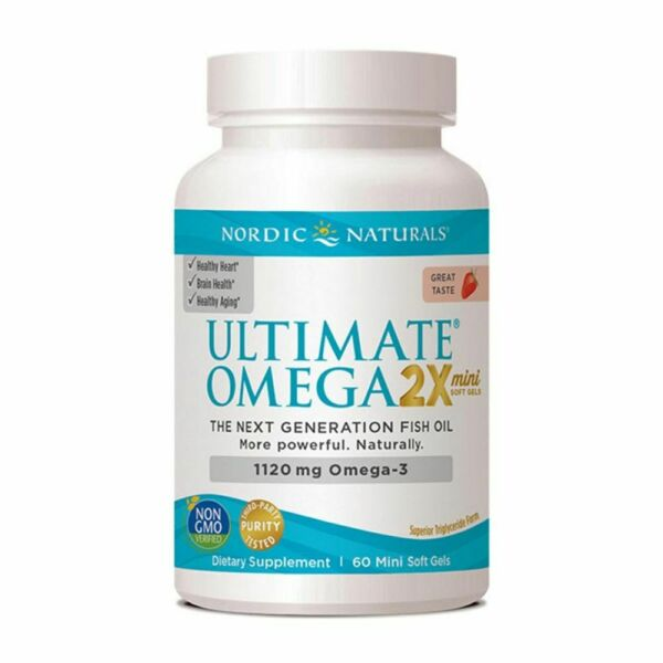 Nordic Naturals Ultimate Omega 2X Mini Strawberry 1120 mg 60 Softgels $21.00