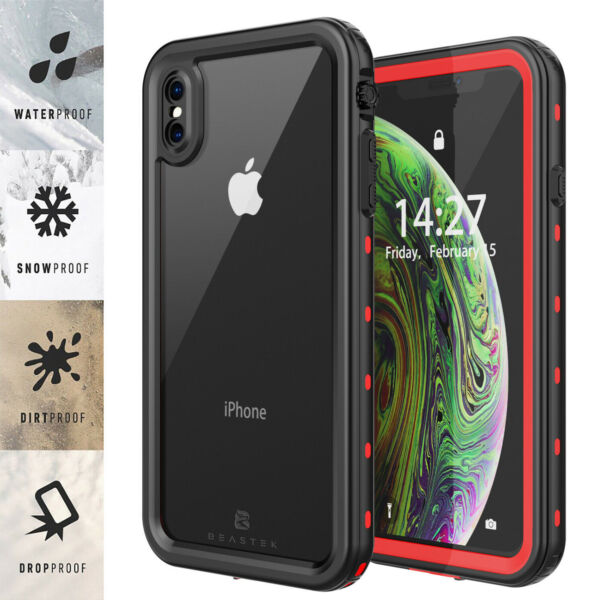 NEW WATERPROOF CASE COVER FOR IPHONE XR XS MAX BUILT IN SCREEN PROTECTOR