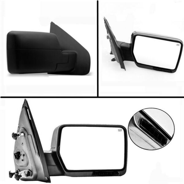 Right Passenger Side For 04-06 Ford F150 Black Power Heated Side View Mirror