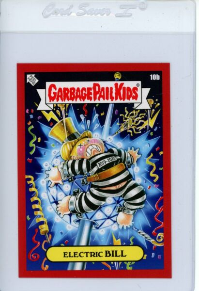 2019 GPK We Hate The Holidays ELECTRIC BILL 10b Red Garbage Pail Kids
