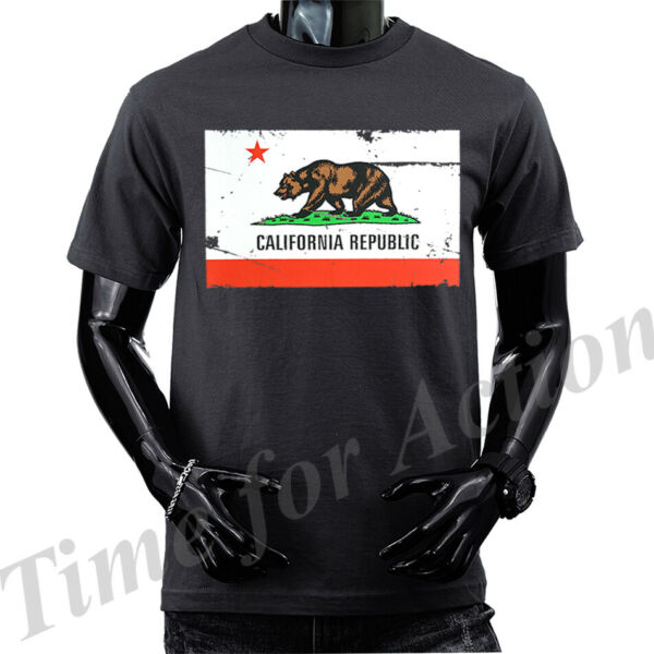 California Republic Cali Bear Graphic T shirts Tank Top $15.99