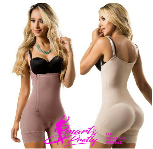 BODY SHAPER POST TUMMY TUCK FAJATE SHAPEWEAR FOR WOMAN LACE BAND BUTT LIFTERS