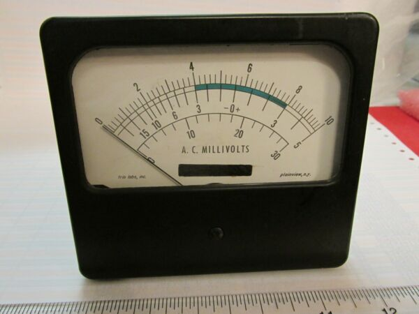 Vintage AC Millivolt Meter GE 5751 + 6AB4 Tubes Trio Labs See Pictures Fast Ship