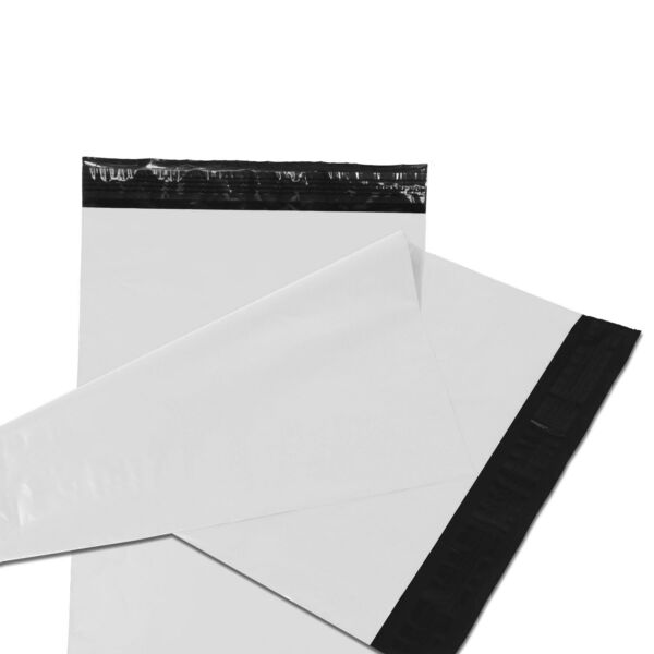 Poly Mailers Plastic Envelopes Shipping Bags Empire Mailers 2.5Mil White Premium