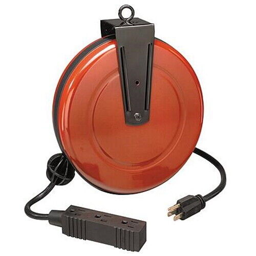 Craftsman Cord Reel Retractable with 30 Ft Extension Cord Mountable Wall Ceiling