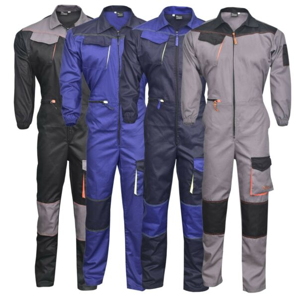 Men#x27;s Work Wear Overalls Boiler Suit Coveralls Mechanics Boilersuit $38.99