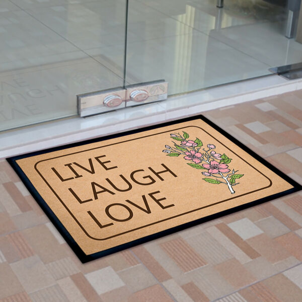 Live Laugh Love Outdoor Mats Non Slip Home Office Floor Carpet Rug