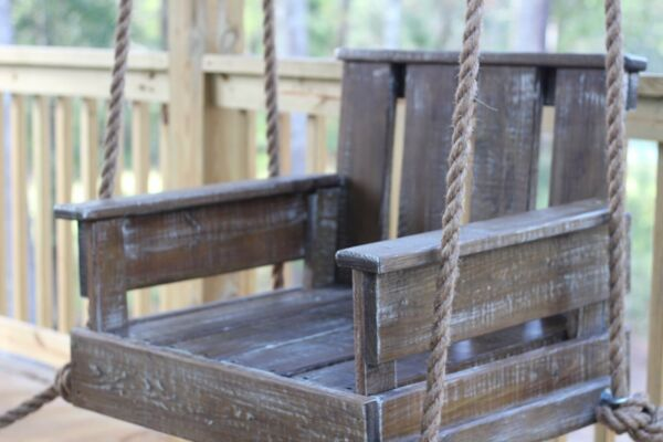 Cowboy Chair Porch Swing