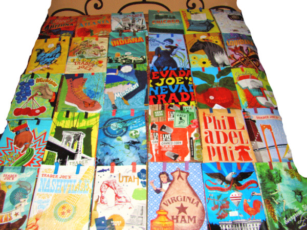 U Pick 1 or More Trader Joe's 6 Gal Reusable Shopping Grocery Tote Gift Bags