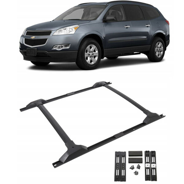 For 09 17 Chevy Traverse Roof Rack Cross Bar amp; Side Rail Package Combo Set $99.99