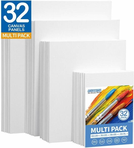 Painting Canvas Panels Multi Pack- 5x78x109x1211x14 (8 of Each)Set of 32 $43.99