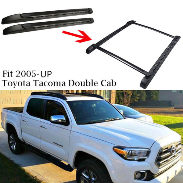 For 05 19 Toyota Tacoma Double Cab OE Style Roof Rack Side Rails Bars Set Kit $134.95