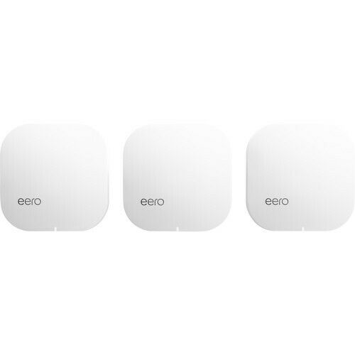 Brand New eero Pro Mesh Wi Fi Router System 3 Pack 2nd Generation White