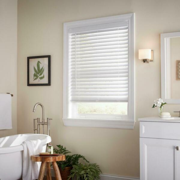 CUSTOM CUT Sizes Home Decorators White Cordless 2quot; Premium Faux Wood Blinds $19.00