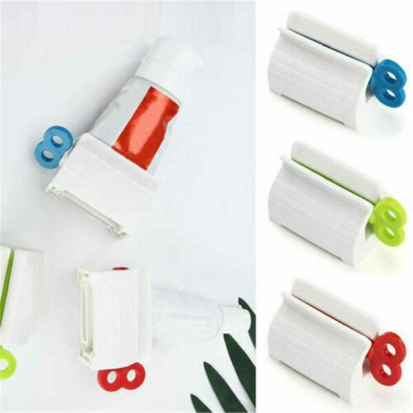 Plastic Toothpaste Tube Squeezer Easy-Dispenser Rolling Holder Bathroom Supplies