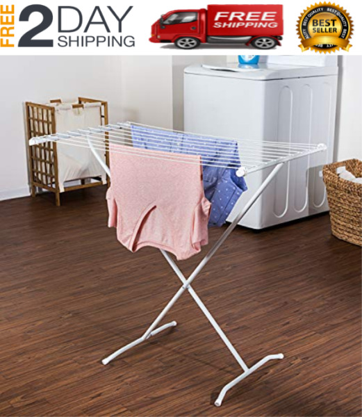 Oversize Folding Drying Rack Laundry Room Clothes Storage Rack Tier Metal New