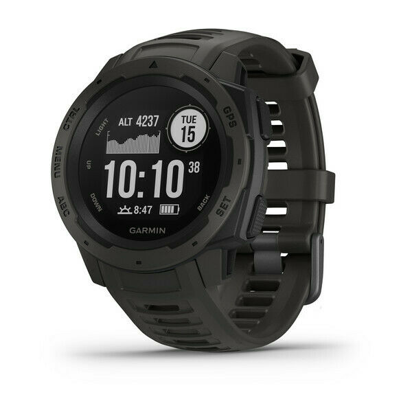 Garmin Instinct Rugged Military Watch w GPS + Heart Rate Graphite 010-02064-00