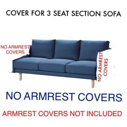 IKEA Norsborg COVER SLIPCOVER FOR 3 Seat SOFA SECTION Edum Dark Blue 503.040.99 $85.29