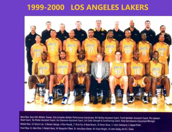 1999-2000 LOS ANGELES LAKERS 8X10 TEAM PHOTO BASKETBALL PICTURE NBA LA