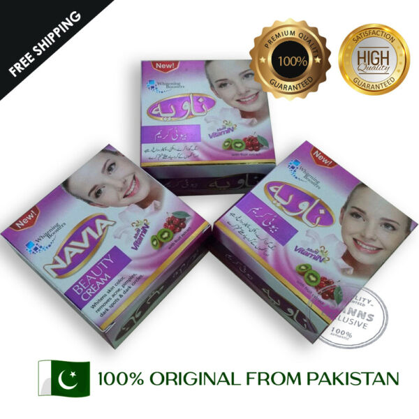 3Navia Beauty Cream Natural Original 100% From Pakistan 3 Pieces Free Shipping
