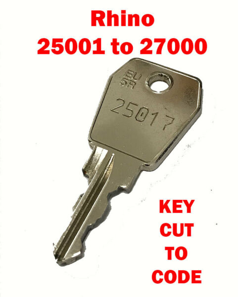 Rhino Roof Tube Pipe Key Cut to Code Codes 25001 to 27000 FREE Pamp;P GBP 2.95