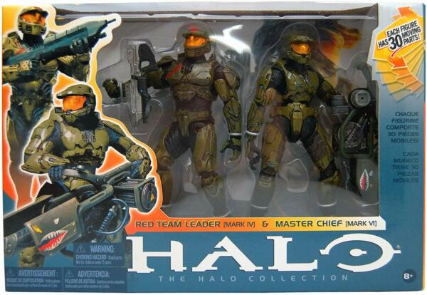 McFarlane Toys Action Figure Halo 3 Deluxe Red Team Leader & Master Chief 2-Pack