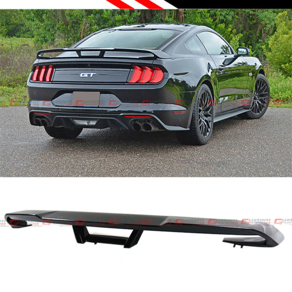 FOR 2015 2020 FORD MUSTANG S550 GT STYLE GLOSSY BLACK REAR TRUNK SPOILER WING $152.99
