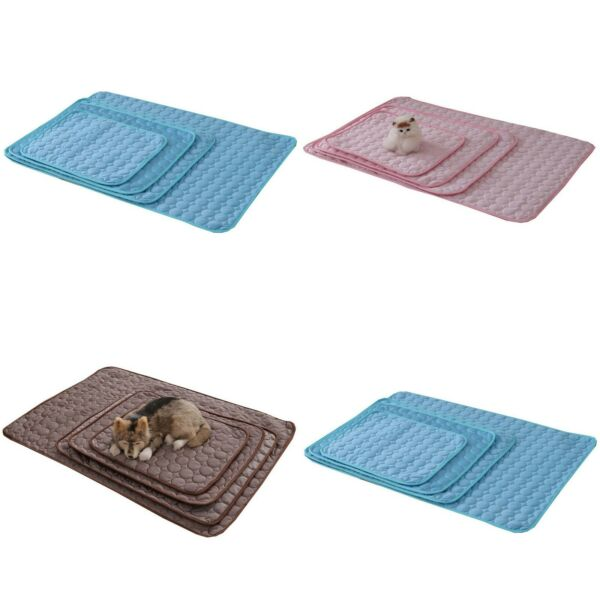 DCP Pet Dog Cooling Mat Ice Silk Self Cooling Pad for CatSummer Pet Stay Cool $17.99