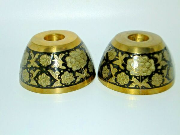 Vintage Decorative Solid Brass Lenox Candles Handcrafted Candle Holders