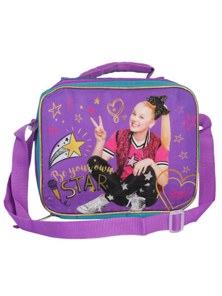 Jojo Siwa Insulated Lunch Bag with Shoulder Strap Be Your Own Star Peace Sign