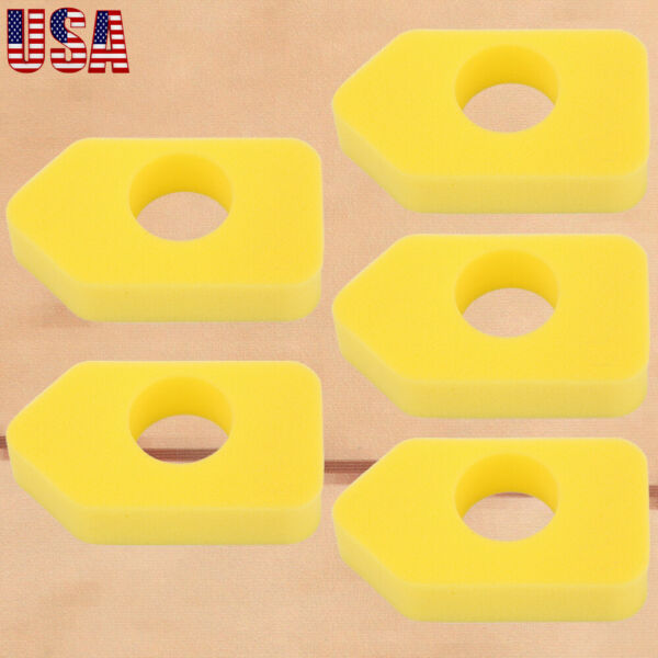 5X Yellow Foam Air Filter For Briggs & Stratton 4216 5099 MTD 490-200-0011 US