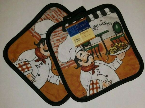 Square Pot Holders Set Heat Resistant Hot Pads Oven Mitts Cooking Kitchen New